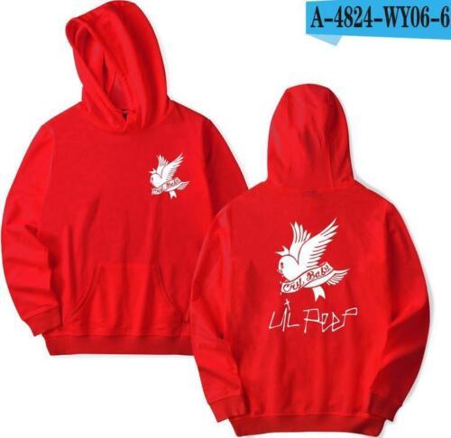 Lil Peep Adolescente Adulto Unisex Felpa con cappuccio Tops Felpe Maglione Pullover Felpa con cappuccio AG
