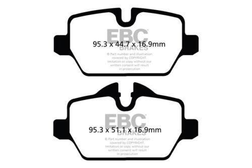 1.6 Cooper R60 2010 /> 17 EBC Ultimax Rear Brake Pads for BMW Mini Countryman