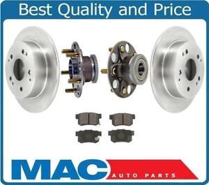 Rear-Rotors-Wheel-Hub-Bearings-amp-Brake-Pads-for-Honda-Accord-3-0L-1998-2002