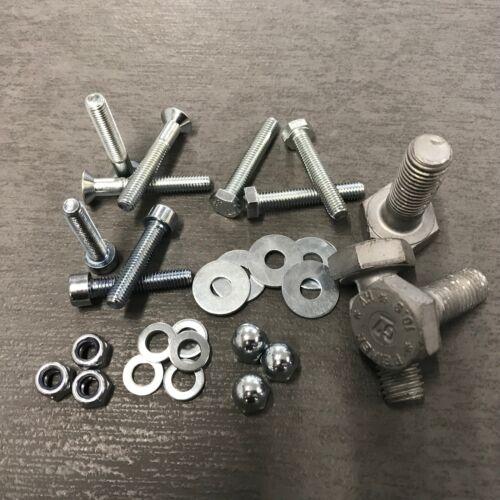 verzinkt gal Zn Inhalt Gewindebolzen DIN 976 Stahl B M 10 x 450 galv 10 Stück