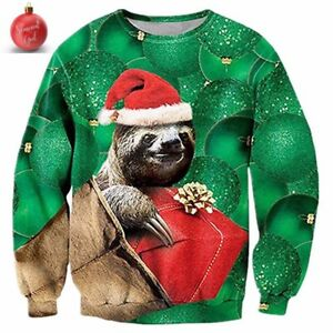 Sloth Christmas Sweater.Details About Ugly Sloth Christmas Sweater