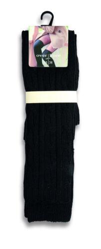 1 oder 2 Paar warme weiche Winter Overknee Over Knee Socken Strümpfe mit Wolle