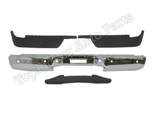 For 04-14 Titan Rear Step Bumper Chrome Face Bar /& Pad W//Sensor Hole NI1191100