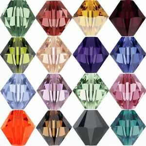 Wholesale-500x-Faceted-Bicone-Crystal-Acrylic-Loose-Beads-U-Pick-color-4-6mm-Ya
