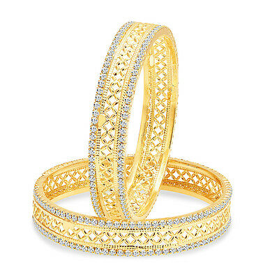 Sukkhi Angelic Gold Plated AD Bangle For Women(32135BADT600)