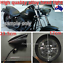 7-034-black-billet-bullet-head-light-Harley-Sportster-XL-DYNA-Chopper-softail-VROD thumbnail 3