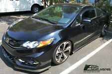 Eos Visors For 12 15 Honda Civic 2dr Coupe Jdm In Channel Side Window Deflectors Fits 2013 Honda Civic Si