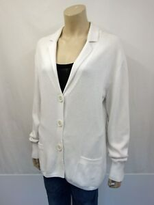 Coton Gr Manches 46 Designer 100 Cardigan Cardigan Blanc Longues Repeat g8n1wqaAx