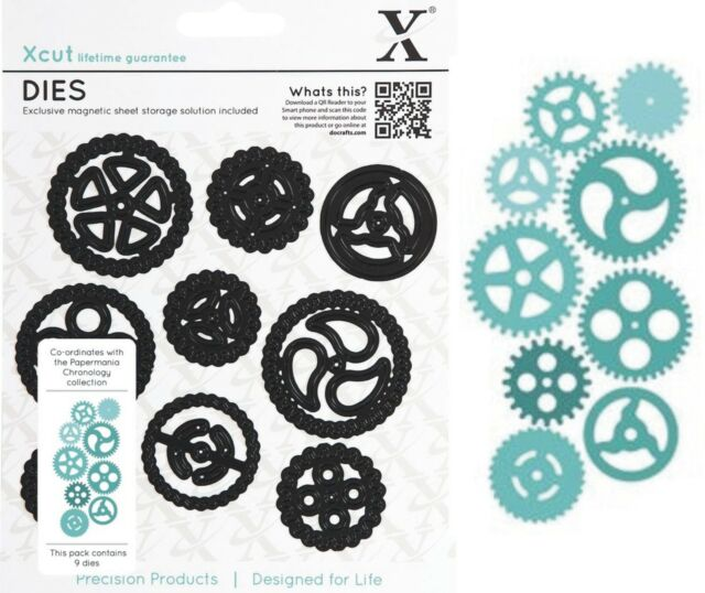 DOCRAFTS XCUT CHRONOLOGY COGS SET 9 CUTTING DIES NEW UNIVERSAL FIT