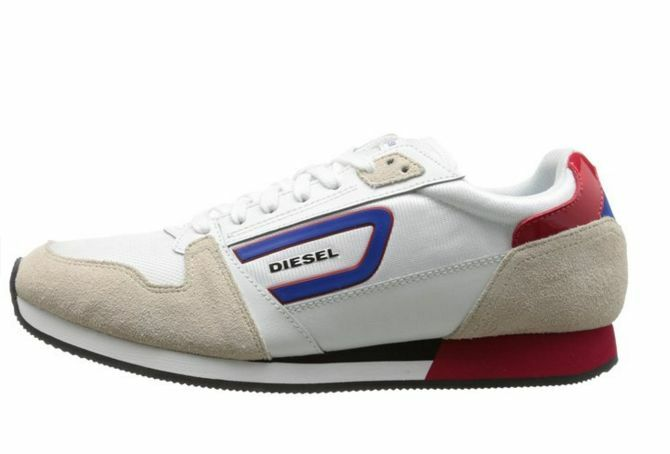 Scarpe casual da uomo  DIESEL Y00992 P0460 H5446 OWENS Mn's (M) White/Blue Leather Lifestyle Shoes
