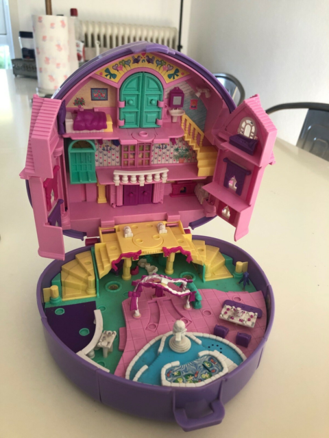 Polly Pocket, Polly pocket æske med håndtag, Stort polly…