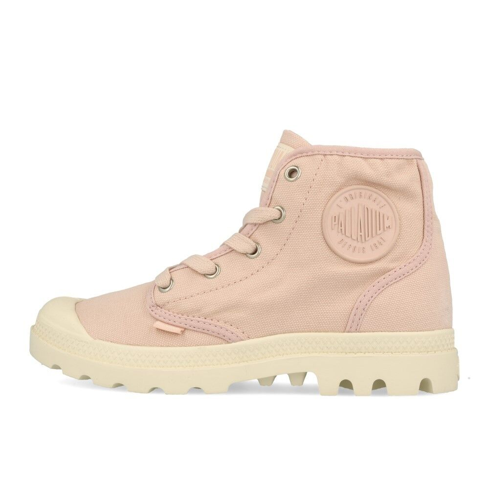 Zapatos especiales con descuento Palladium Pampa HI Wmns Peach Whip Marshmallow Schuhe Stiefel Boots Rosa