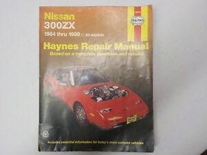 haynes repair manual 72010 nissan 300zx 84 89 in good condition rh ebay co uk 1986 Nissan 300ZX Manual Nissan 300ZX Engine Diagram