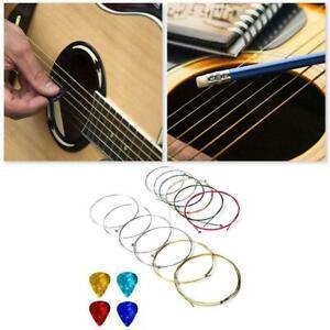 1-Set-Nylon-Guitare-acoustique-cordes-de-remplacement-avec-Guitar-Picks-V2O5