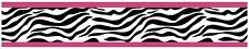 Sweet Jojo Hot Pink & Zebra Print Baby Kid Wall Paper Border Room Wallcovering