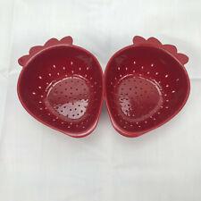 Red Norpro Mini Strawberry Colander
