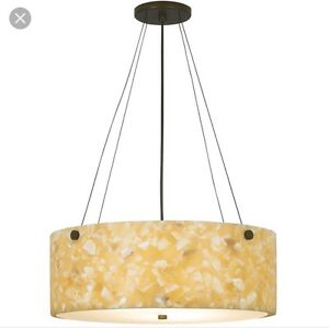 Modern mid century style tiella onyx chandelier kit pendant image is loading modern mid century style tiella onyx chandelier kit aloadofball Gallery