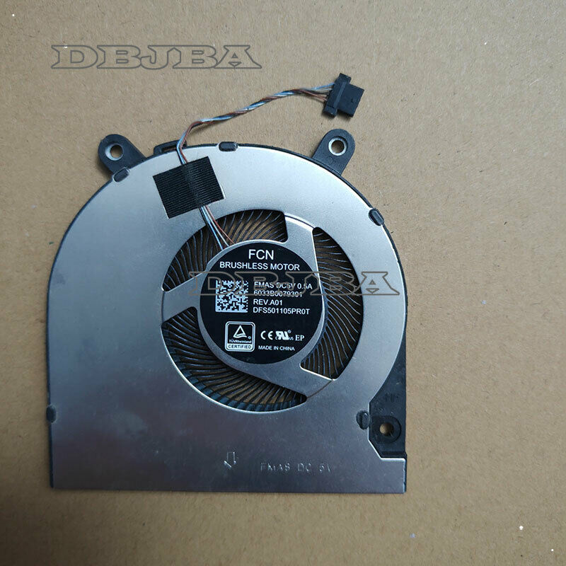 Laptop Cooling Fan For FCN DFS501105PR0T FMAS 5V 0.5A 6033B0079301 CPU FAN