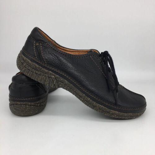 Clarks Womens Split Toe Sneaker Oxfords Shoes Blac