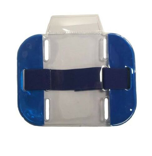 BRACCIO di sicurezza alta visibilità banda ID Holder-Blu