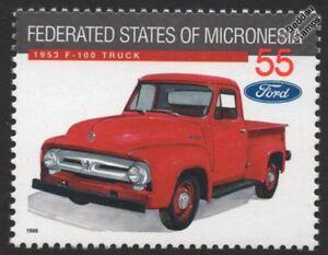 1953 FORD F-100 (F100 F-Series) Truck Vehicle Classic Car Stamp