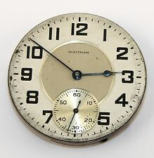 WALTHAM 16 SIZE JEWEL OPEN FACE POCKET WATCH MOVEMENT- RUNNING - LY1417