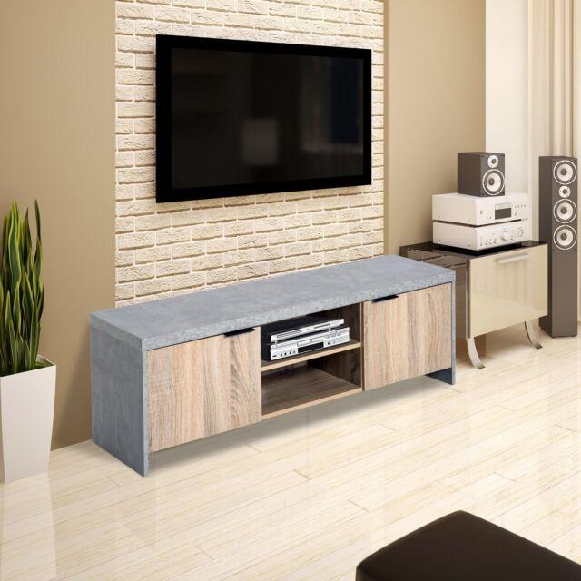 the best attitude c56c9 0f2c7 Homcom 1.2m Wooden TV Stand with CD/DVD Storage Unit - Grey
