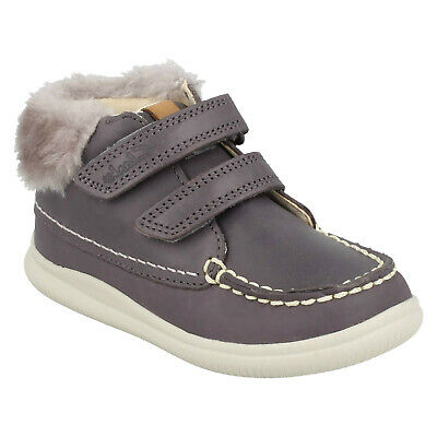 Bambine Clarks Nuvola Flufi FST Primi Scarpe Casual Pelo Stivali Caviglia   eBay