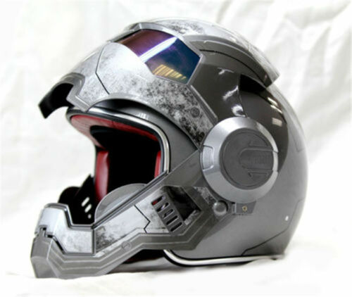 "Iron Man motorcycle helmet /""Masei/"" retro half helmet open face casque motocross"