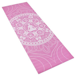 Image is loading Pink-Printed-Design-Yoga-Mat-with-Poses-Printed- 794ba17b9e3e