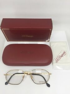 d8c81c4a56b ST DUPONT D059 Eyeglasses Frames 23 Karat Gold Plated V 6050 Made In ...