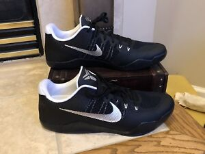 50c5f871ad4 Nike Kobe XI 11 TB Promo Black Silver White 856485-001 Men s Size ...