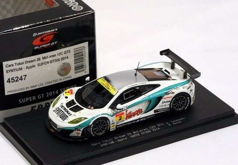 CARS TOKAI DREAM 28 MCLAREN 12C GT3 SYNTIUM APPLE  EBBRO MODELS 1 43 45247