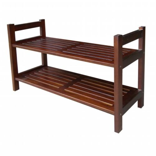 Mahogany Ore International DSR001 15.5Two Tiers Stackable Shoe Rack