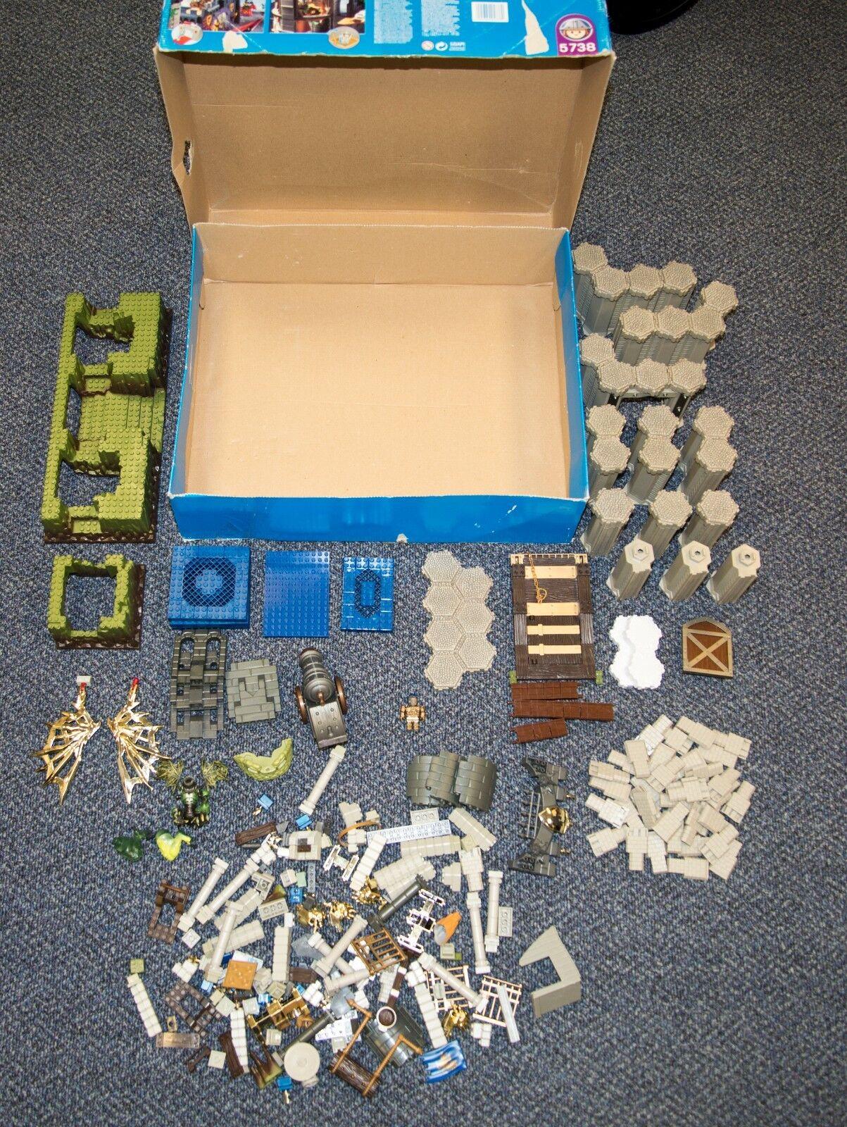 2003 PLAYMOBIL KNIGHTS CATAPULT CASTLE PLAY SET & BOX