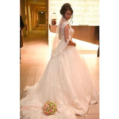 Hochzeitskleid/Brautkleid, weiss, Gr. 36-38