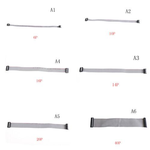 Paso de 2.54mm 6P 10P 14P 16P 20P 40P Cable plano de la Plana de IDC 300mm cpev