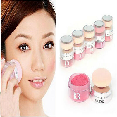 Ladies Make-up Beauty Blush Blusher Mineral Powders Link With Sponge Puff Blush