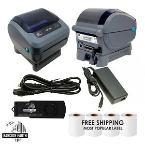 Zebra-ZP450-Direct-Thermal-Label-Barcode-Printer-W-USB-amp-1000-Shipping-Labels