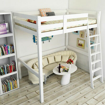 Uk Childrens High Sleeper Bed Pine Loft Cabin Wooden High