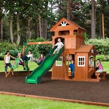 Backyard Discovery Monticello All Cedar Wood Playset Swing Set Kids