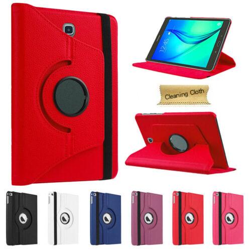 360 Custodia Folio in Rotante per Samsung Galaxy Tab A 7.0 8.0 9.7 10.1 SM-T580