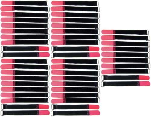 50 x Klettkabelbinder 160 x 16 mm rot Kabelbinder Kabel Klettband Kabelklett Öse