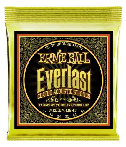 Top Ernie Ball Everlast Medium Light Coated 80//20 Bronze Saiten Akustik Gitarre
