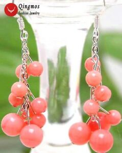 4-6mm-Natural-Round-Pink-Coral-Earring-2-034-Grape-Dangle-Earring-for-Women-925-106
