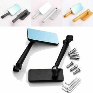 Universal Motorcycle Bikes CNC Aluminum Rearview Side Mirrors Rectangle Bar End