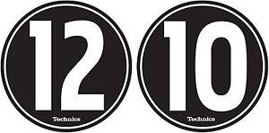 Technics-60604-PAIR-Slipmat-12-10-Design-BLACK-WHITE-Original-Brand-New