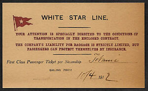 Titanic-White-Star-Line-Reprint-Ticket-On-Original-Period-1912-Paper-Shipwreck