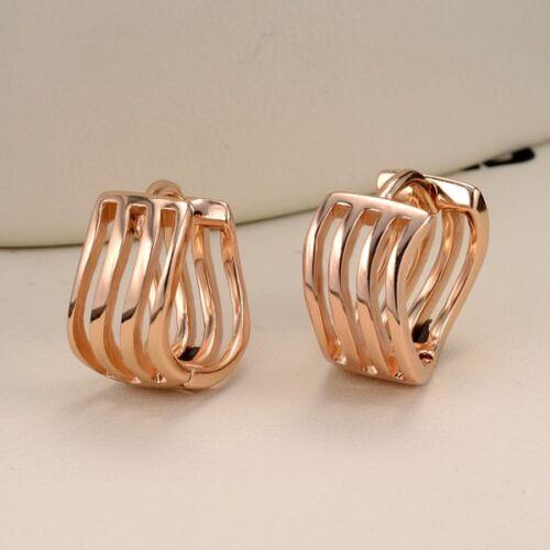 Women/'s Hoops Newest Earrings 18k Yellow Gold Filled 13MM Fashion Jewelry HOT
