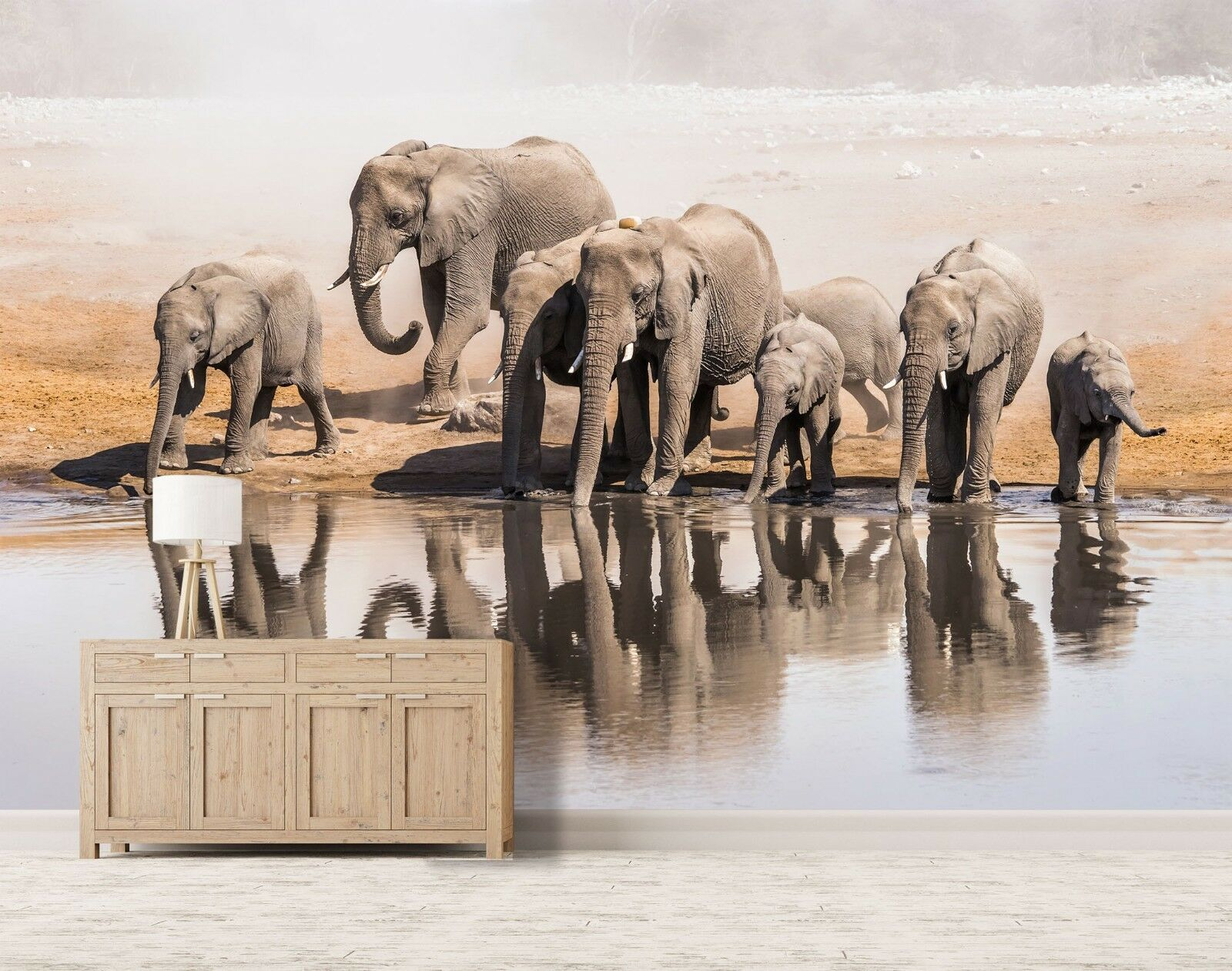 3D Elephant 7126 Wall Paper Print Wall Decal Deco Indoor Wall Murals US Summer